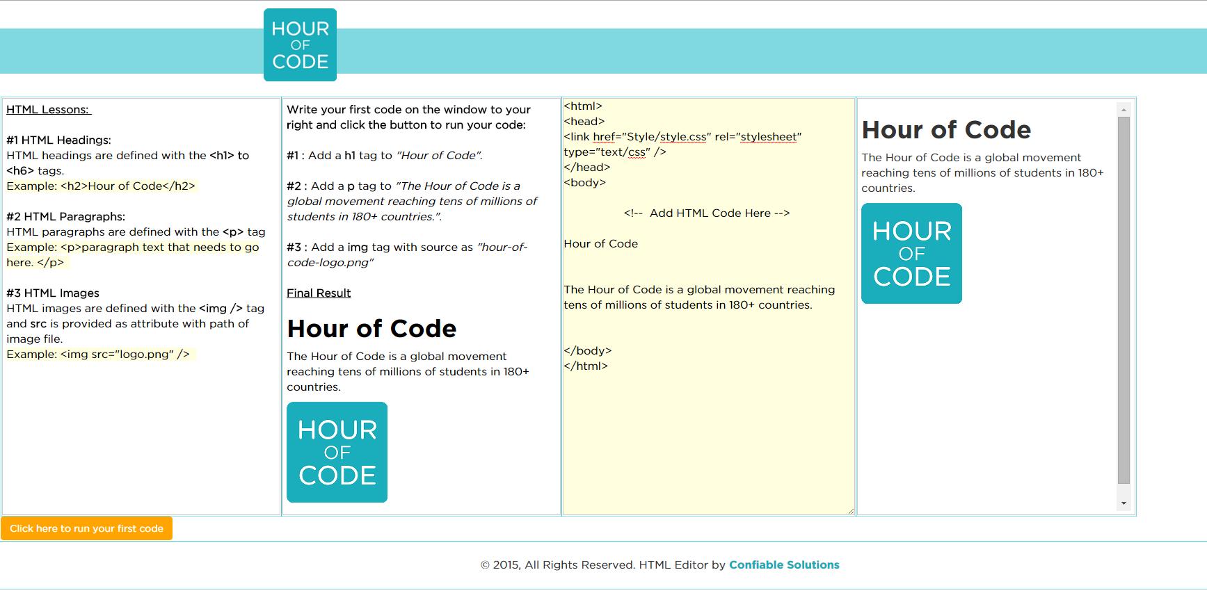 Hour of Code : Offline HTML Web Development – Vikram Shetty