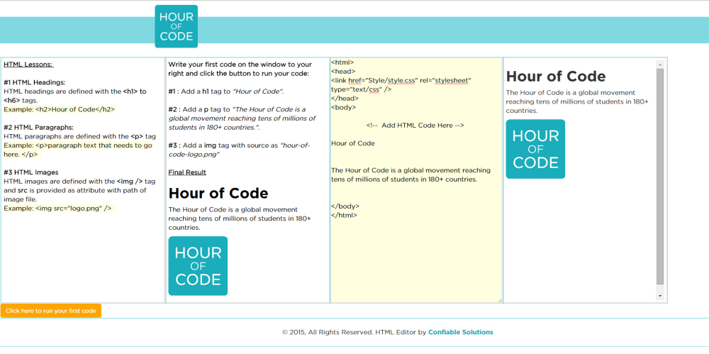 Hour of Code : Offline HTML Web Development (6/6)