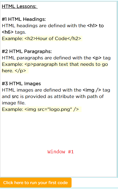 Hour of Code : Offline HTML Web Development (2/6)