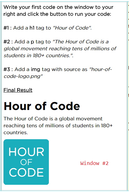 Hour of Code : Offline HTML Web Development (3/6)