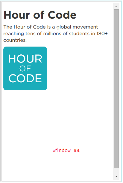 Hour of Code : Offline HTML Web Development (5/6)